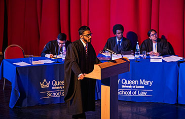 Students taking part in the George Hinde Moot Final 2018